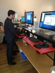 Diy Stand Up Desk Ikea A Standing Desk For 22