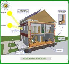 green building house plans passive solar house plans green passive solar house 3 section 3d