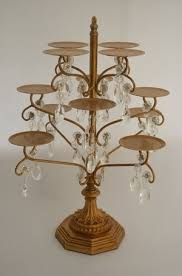 chandelier cupcake stand gold chandelier cupcake stand on the hunt