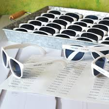 personalized sunglasses wedding favors personalized white frame wedding sunglasses favors