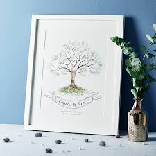 wedding fingerprint tree guest book by lillypea event stationery
