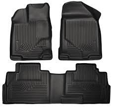 Husky Liner Floor Mats For Toyota Tundra by Amazon Com Weathertech 444081 440938 1st U0026 2nd Row Black Floor