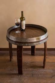 whiskey barrel table tops www nottooshabbynj com salvage chic