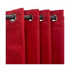 Sunbrella Outdoor Curtains 120 by Canvas Jockey Red Sunbrella Nickel Grommeted Outdoor Curtain