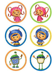 boy team umizoomi digital cupcake topper sticker circles