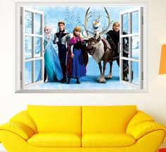 2017 frozen princess decal removable wall frozen cartoon stickers