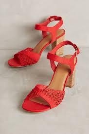 farylrobin red cork block heel your anthropologie favorites