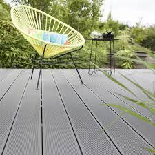 auvent en bois pour terrasse planche composite primo gris l 220 x l 14 5 cm x ep 21 mm