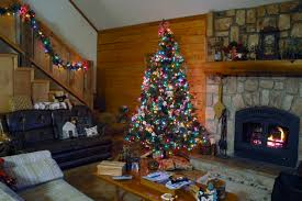 Homes Decorated For Christmas by Log Home Christmas Decor Home Decor