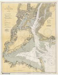 Map Of Long Island New York by New York Harbor Historical Map 1936 Products