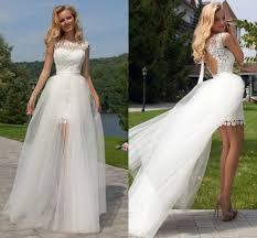 aliexpress com buy sheer lace two pieces beach wedding dress