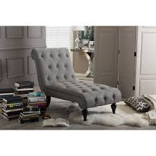 Chaise Lounges For Living Room Baxton Studio Layla Mid Century Retro Modern Grey Fabric