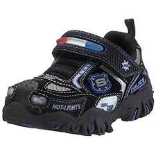 skechers red light up shoes amazon com skechers kids 90351n damager police hook and loop light