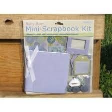 Colorbok Scrapbook New Colorbok Baby Boy Mini Scrapbook Kit 4x4 Album Paper Stickers