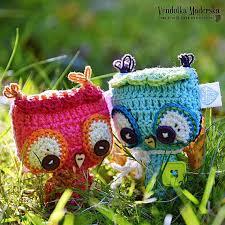 crochet owl ornament pendant hanger pattern