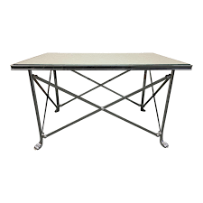 ralph lauren mirrored campaign style cocktail table original