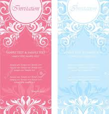 Invitation Card Stock Set Of Floral Invitation Cards Royalty Free Cliparts Vectors And