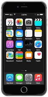 ios 8 iphone 6 home screen template