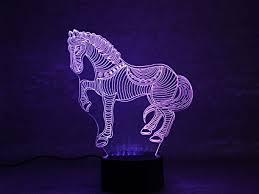 3d Lamps Amazon Amazon Com 3d Horse Night Light Yifocus Optical Illusion Night