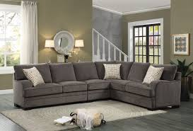 home theater sectionals homelegance alamosa sectional sofa set chenille brown 8335