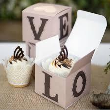 25 cupcake wedding favors ideas rustic cup cake box 25 pcs unique wedding favor boxes
