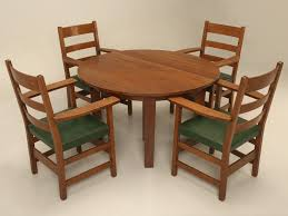arts u0026 craft dining table and chairs for sale old plank