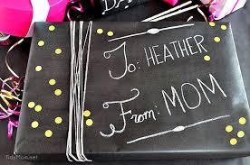 diy chalkboard gift wrap tidymom