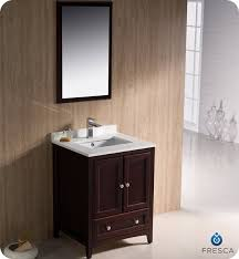 24 Inch Bathroom Vanities And Cabinets Fresca Oxford Single 24 Inch Transitional Bathroom Vanity Mahogany