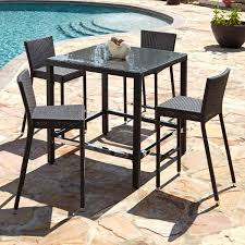 Patio High Top Table Wonderful Height Table Chairs Ideas Outdoor Furniture Patio