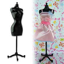necklace dress holder images 5pcs display gown dress clothes rack barbie doll mannequin model jpg
