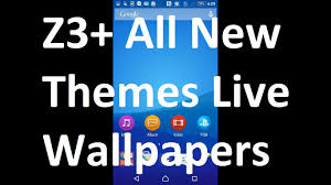 wallpaper bergerak sony xperia sony xperia z3 z3 plus live wallpaper themes all colors android