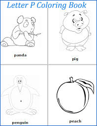 letter p words coloring pages p is for alphabet pinterest