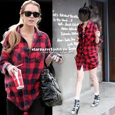 trend alert plaid shirts dress like a celebrity