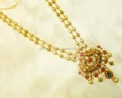 gold haram sets gold necklace gundu pacchi chain necklace pearl gundu