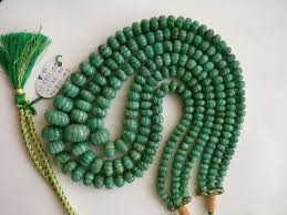natural beads necklace images Natural emerald gemstone melon cut roundel beads necklace at rs jpg