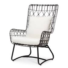 Black Patio Chairs by Www Palecek Com Products 757110 N 37 Capri Outdoor Wing Chair