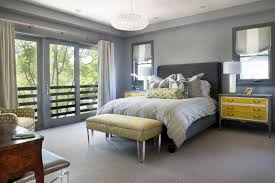 Bedroom With Yellow Walls And Blue Comforter Yellow And Silver Wedding Theme Room Interior Inspiration Rooms