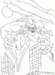 spiderman venom in the night coloring spiderman cartoon coloring