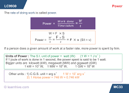 learnhive icse grade 10 physics work energy and power lessons