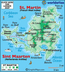 map of st martin map geography of martin map of martin