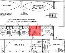 titanic floor plan murdoch s cabin aboard titanic william murdoch