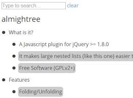 searchable and collapsible tree view plugin with jquery