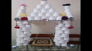 Decorations For Home Ideas Easy Home Made Ganapati Decoration Youtube
