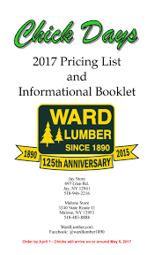 ward lumber poultry