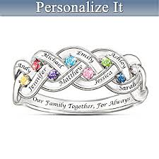 family ring together for always family engraved ring