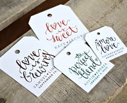 24 pre printed favor tags for wedding favors dinners