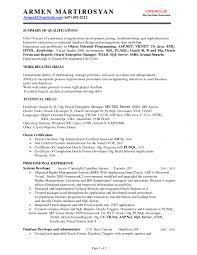 Resume Objective For Web Developer Sample Resume For Net Developer Fresher Free Resume Example And