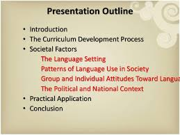 language setting pattern used in society the fact finding stage assessing societal factors