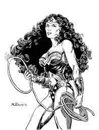 wonder woman sketch motor city comic con 2011 by mlpeters on