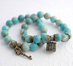 charms bead bracelet images Vintage turquoise bracelets beaded charms couples bracelets energy jpg